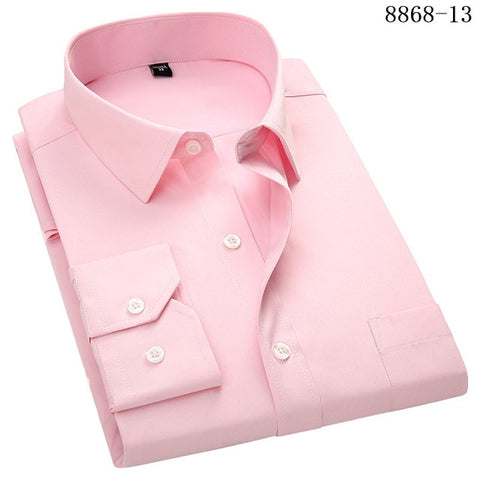 Image of Men's Business Casual Long Sleeved Shirt