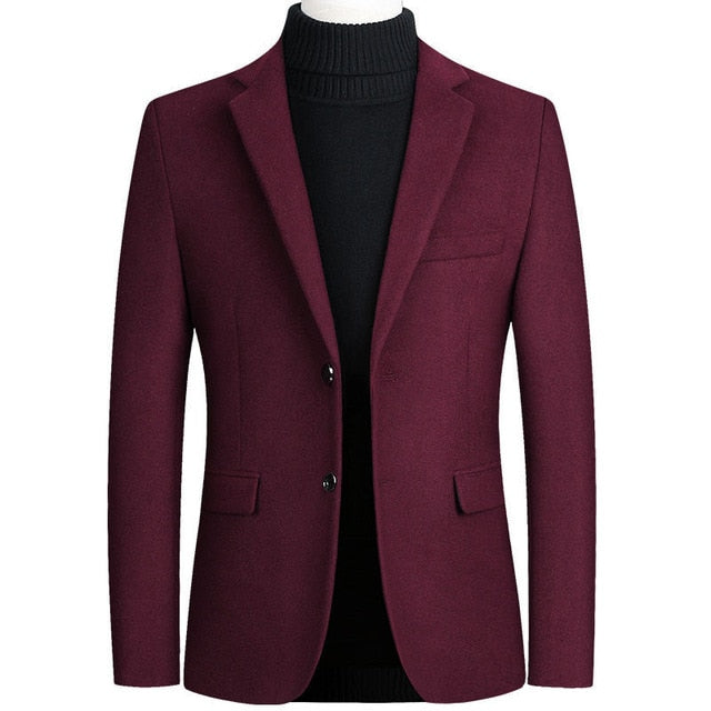 Riinr Brand Mens Wool Blend Suit