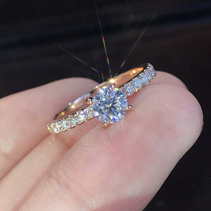 YOBEST New Trendy Crystal Engagement Design Hot Sale Ring