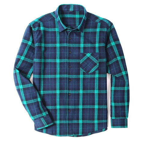 100% Cotton Flannel Men's Plaid Shirt