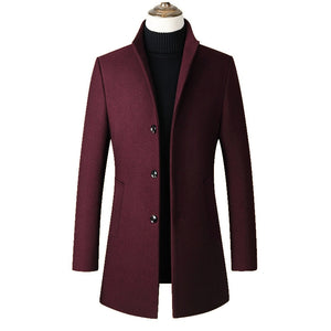 Jaqueta de outono mens Fashion Long coat