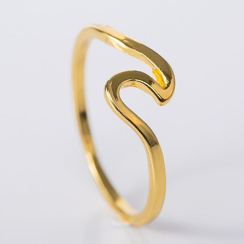 Image of Fashion Simple Design Sea Wave Rings