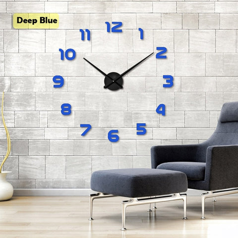 Image of New Clock Watch Wall Clocks Horloge 3d Diy Acrylic Mirror Stickers DIY