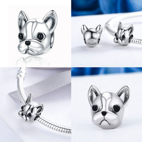 925 Sterling Silver Dog Charms