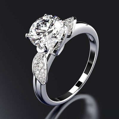 PANSYSEN Pure 925 Sterling Silver Jewelry Wedding Engagement Rings