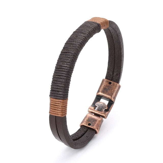 New leather bracelet for men Vintage Bohemian style