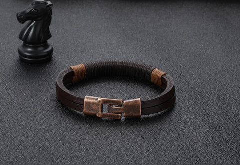 Image of New leather bracelet for men Vintage Bohemian style