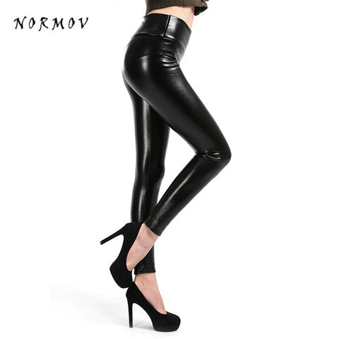 Image of Normov S-5XL women faux leather leggings