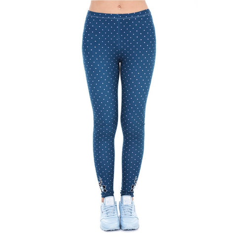 Brands Women Fashion Legging Aztec Round Ombre Printing
