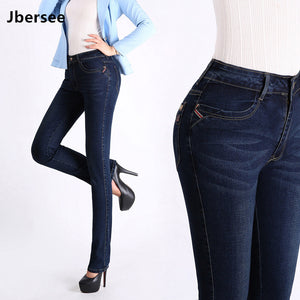 Jbersee Women Jeans High Waist Plus Size