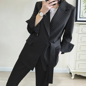 New arrival women plus big size pant suit professional