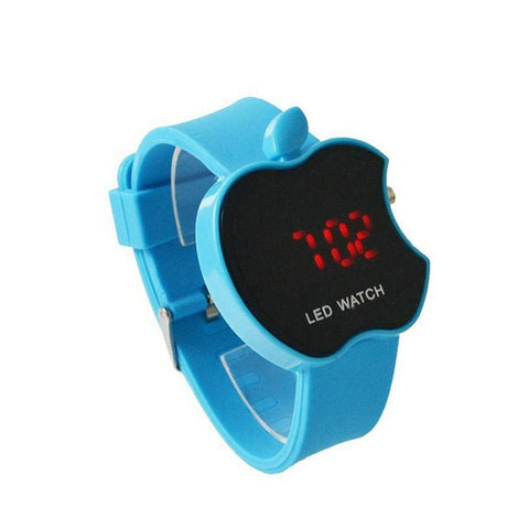 Apple Shaped Colorful Silicone Watch
