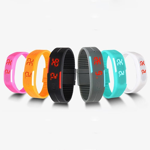 Charming Wristwatches Unisex Men's Women's Silicone