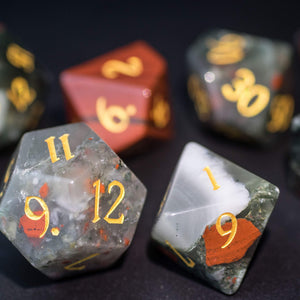 Bloodstone DnD Dice Set All Number Edition