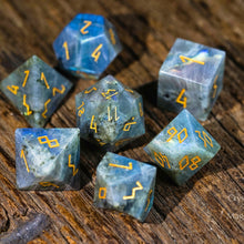 Labradorite DnD Dice Set All Number Edition