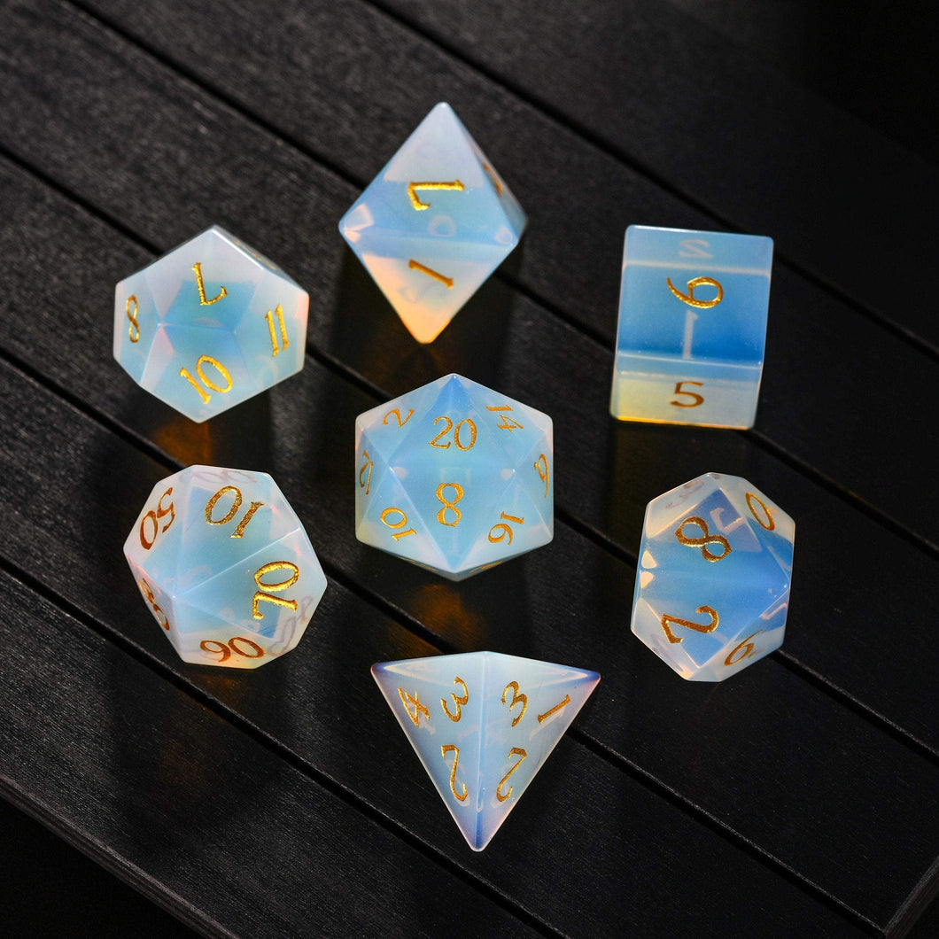 Opalite DnD Dice Set All Number Edition