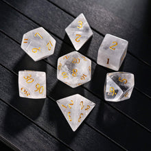 Crystal Quartz DnD Dice Set All Number Edition