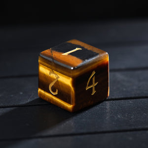 Tiger's Eye DnD Dice Set Bee Edition