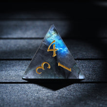 Labradorite DnD Dice Set  Moon Edition