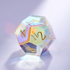 Fantastic Glass DnD Dice YEET OOF Edition