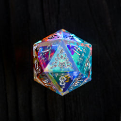 Fantastic Glass Gemstone DnD Dice Set Music Motif Nine Tail Fox Edition