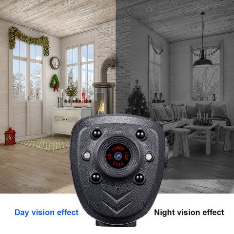 Image of Mini Body Camera HD1080P Video Recorder Built-in 32GB Memory Card, Wearable Police Cam with Night Vision, Pocket Clip for Office, Law Enforcement, Security Guard, Home, Car, Bike, Hiking