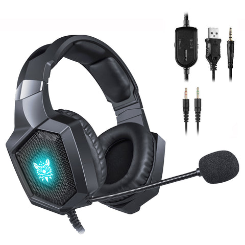YIJIAOYUN K8 PC Gaming Headset with Noise Cancelling Mic for PS4 Xbox One Controller Laptop Nintendo