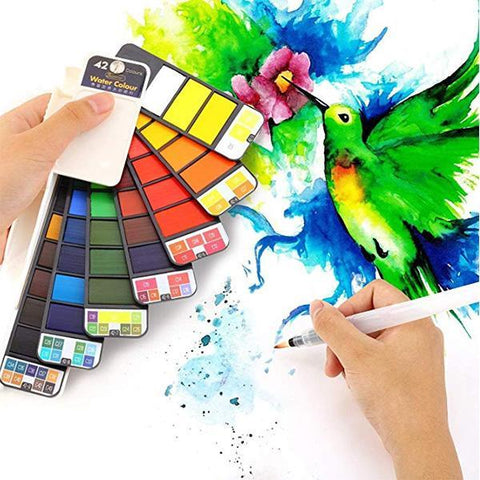 Image of Travel Painting Set For Kids, Painting Learners, 18 Colors & 42 Colors