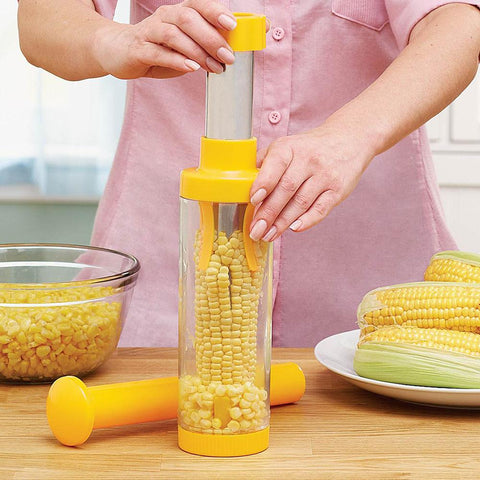 Image of YIJIAOYUN Easy Corn Stripper and Container , Yellow