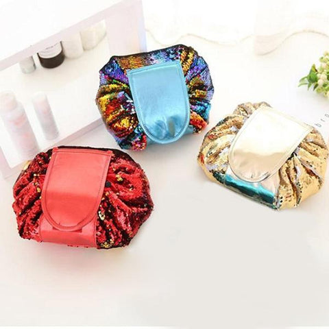 Image of Travel Easy-to-pack Bag, Sequin Makeup Bag