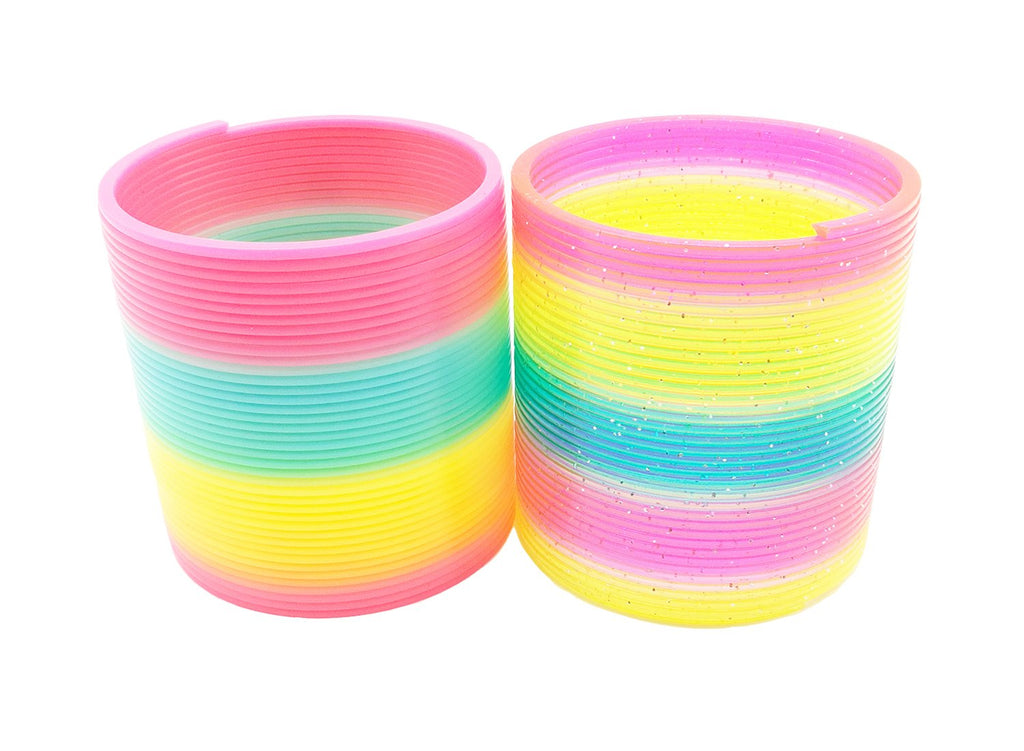 Magic Spring Rainbow Slinky Toy - 8.5 CM,2 Pack