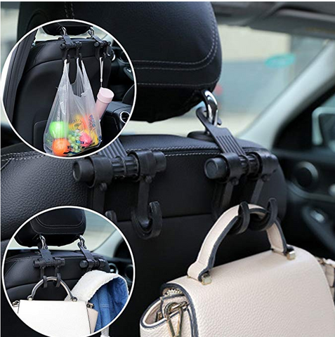 Image of Car Front Back Seat Headrest Hanger Hook