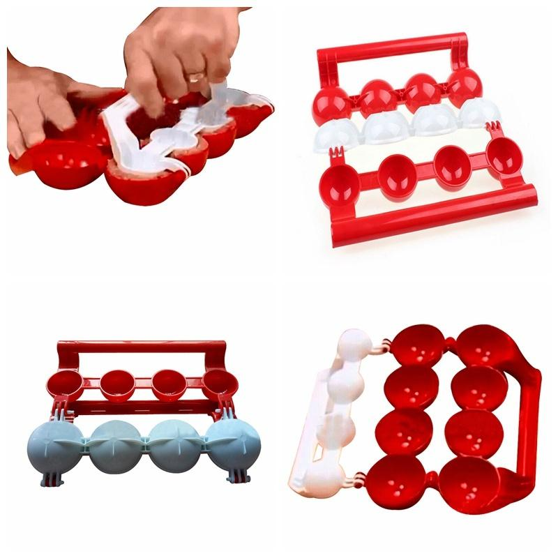 YIJIAOYUN  Easy Meatballs Maker, Red and White