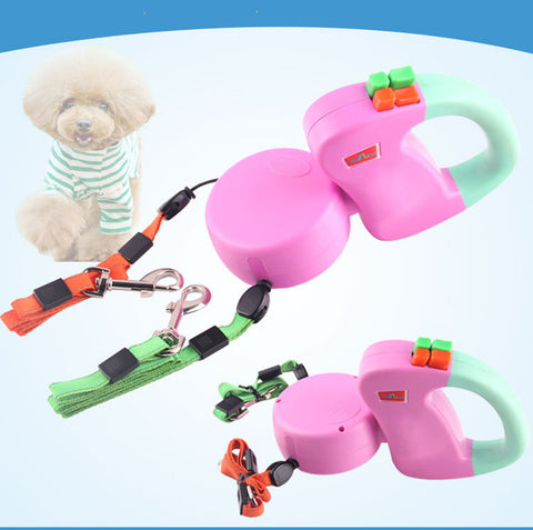 YIJIAOYUN Innovative Zero Tangle Dual Pet Leash