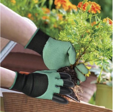 Image of Garden Gloves For Digging & PlantingGardening Gloves, Runfish Women Garden Digging Genie Gloves with Claws Protective Gear Gardening Tool Best Gift for Gardeners (1 pair)
