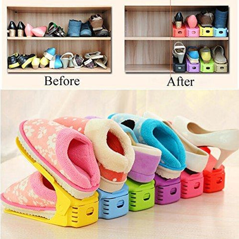 Image of YIJIAOYUN Shoe Rack Space Saver, 1 Pack (2 Pieces)