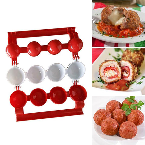 Image of YIJIAOYUN  Easy Meatballs Maker, Red and White