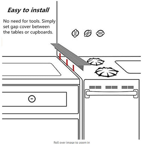 Image of Kitchen Stove Gap Covers (2 Pack)