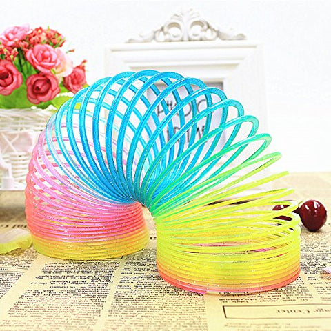 Image of Magic Spring Rainbow Slinky Toy - 8.5 CM,2 Pack