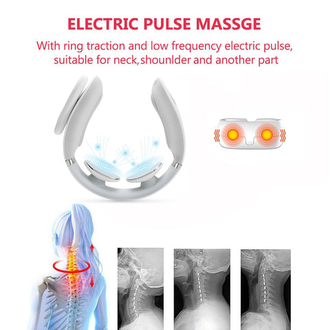 Smart Neck Massager, 3D Digital Vertebra Muscle Massage Machine