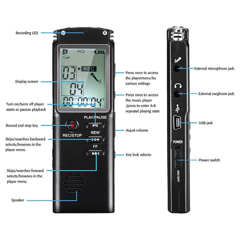 High Fidelity Digital Voice Audio Recorder