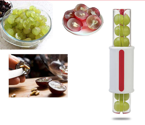 Easy Grape and Tomato Slicer. Zip, Lock and Slice