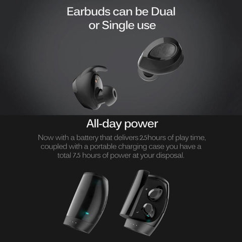 Image of True Wireless Stereo ES60 Earbuds, Bluetooth V4.2 In-Ear Headset, Noise Cancelling Earphone with Charging Case, Ergonomic Design Invisible Headphone with Mic for Running Gym Workout for iPhone Samsung