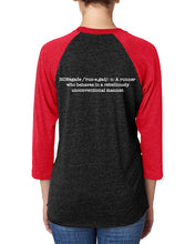 Load image into Gallery viewer, Tri-Blend 3/4 Sleeve Raglan (Unisex)