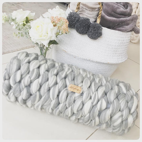 Large Merino Bolster Cushion (approx. 55cm x 20cm)