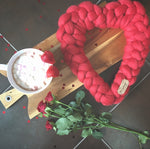 Merino Wool Decorative Heart (approx. 32cm x 32cm) Ready Made