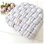 Tube Yarn Large Square Cushion (approx. 45cm x 45cm)
