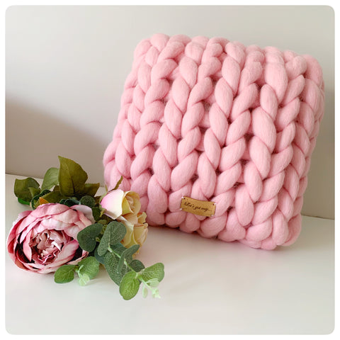 Medium Merino Wool Square Cushion (approx. 33cm x 35cm)