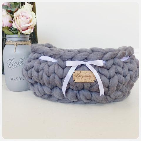 Medium Storage Basket (Approx. H:15cm x L:33cm x W:25cm