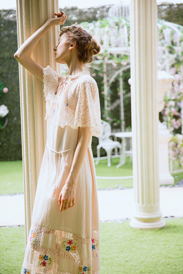 Lolita's Patchwork Lace Cotton Dress